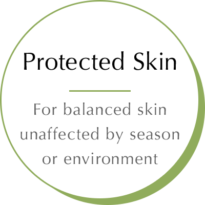 Protected skin - For balanced skin unaffected by season orenvironment